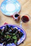 Mussels w Amalfi wybrzeża stylu obraz royalty free