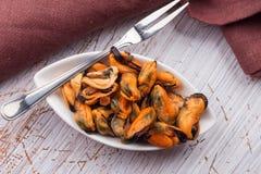 Mussels w pucharze Obraz Stock