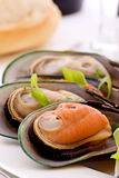 Mussels in White Wine Stock Image