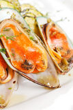 Mussels with zucchini Stock Images