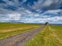 Mussenden-Tempel nahe Castlerock, Nordirland Lizenzfreies Stockbild