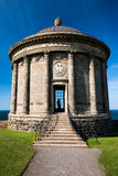 Mussenden Temple agasinst a blue sky royalty free stock photo