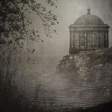 Mussenden Temple on a cliff`s edge stock images