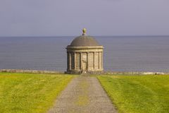 Mussenden Temple located on the Downhill Demesne in County Londonderry on the North Coast of Ireland. Built by the Earl Bishop Frederick Augustus Hervey royalty free stock images