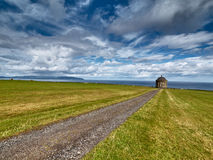Mussenden Temple near Castlerock, Northern Ireland. Mussenden Temple near Castlerock, Antrim, Northern Ireland royalty free stock image