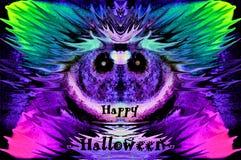 Mussmådjävula som orsakara fel önskar lyckliga halloween, grafic som är experimentell Fotografering för Bildbyråer
