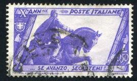 Mussolini standbeeld in Bologna Stock Fotografie