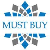 Must Buy Blue Grey Circular Royalty Free Stock Photo