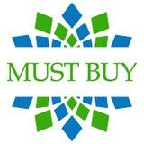 Must Buy Green Blue Circular  Royalty Free Stock Photo