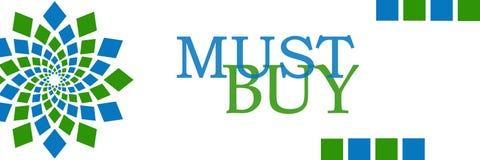 Must Buy Green Blue Squares Horizontal Stock Photo