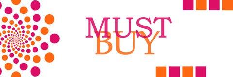 Must Buy Pink Orange Dots Horizontal Royalty Free Stock Image
