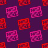 Must buy seamless pattern. Seamless badge pattern, backdrop for your design Stock Photo