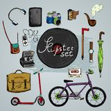 Must have hipster elements stock illustration