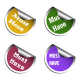 Must have stickers Stock Images