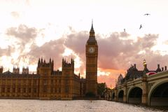 Historic buildings in London royalty free stock photo