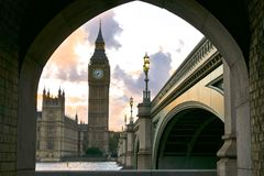 Historic buildings in London royalty free stock image