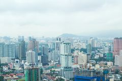 City view from the top floor of Petronas Twin Towers, Malaysia, Asia stock photos