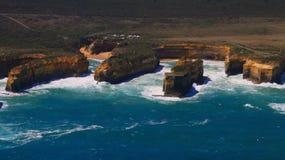 Australia Tourism, Great ocean Twelve apostles areal view royalty free stock photo