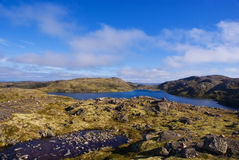 Musta Tunturi. Ridge on the Kola Peninsula Stock Photos