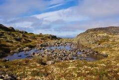 Musta Tunturi. Ridge on the Kola Peninsula, Russia Stock Images