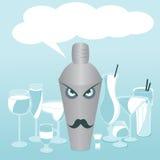 Mustac de cristal determinado del diseño del símbolo del cóctel de los ejemplos de las bebidas de la barra Imagen de archivo libre de regalías