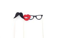 Mustache, γυαλιά, σφουγγάρι σε ένα ραβδί Στοκ φωτογραφία με δικαίωμα ελεύθερης χρήσης