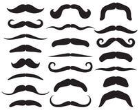 mustache θέστε Στοκ Φωτογραφία