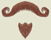 Mustache and beard Royalty Free Stock Photos