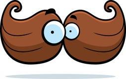 Mustache Cartoon Royalty Free Stock Photography