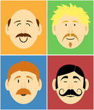 Mustache faces Royalty Free Stock Photo