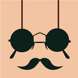 Mustache with glasses Royalty Free Stock Photo