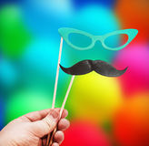 Mustache and glasses of paper Royalty Free Stock Photography