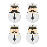 Mustache guy avatar portrait picture icon Royalty Free Stock Photo