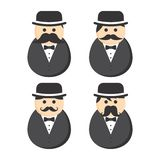 Mustache guy avatar portrait picture icon Stock Photo