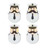 Mustache guy avatar portrait picture icon Royalty Free Stock Image
