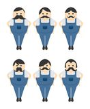Mustache guy avatar portrait picture icon Stock Photos
