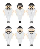Mustache guy avatar portrait picture icon Royalty Free Stock Photos
