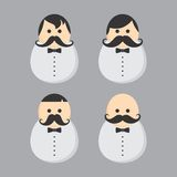 Mustache guy avatar portrait picture icon Stock Images