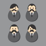 Mustache guy avatar portrait picture icon Royalty Free Stock Photography
