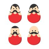 Mustache guy avatar portrait picture icon Royalty Free Stock Images