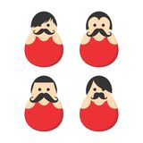 Mustache guy avatar portrait picture icon Stock Image