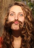 Mustache with hair Royalty Free Stock Image