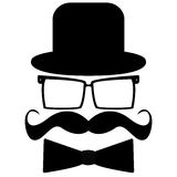 Mustache, hat, sunglasses Royalty Free Stock Photo