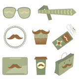 Mustache icons Stock Photos