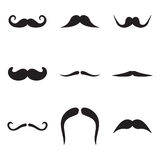 Mustache Icons Stock Image