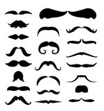 Mustache  icons set Royalty Free Stock Images