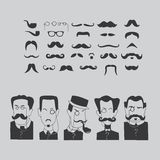 Mustache and intellectuals. Stock Photography