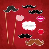 Mustache and lips Stock Photos