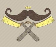 Mustache logo Royalty Free Stock Photo