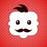 Mustache man face Royalty Free Stock Photos